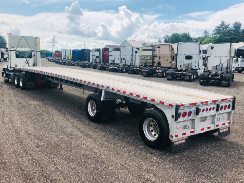 1998 REINTNOUER 48'FT ALL ALUIMNUIM FLAT BED TRAILER, CLEAN !