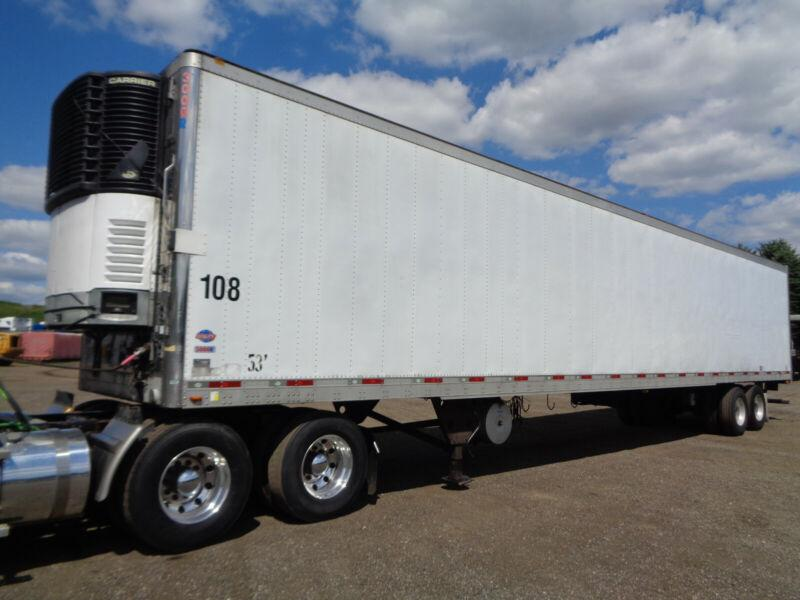 2008 UTILTY 53FT REEFER TRAILER, WORKING CARRIER WITH 33455 HOUR