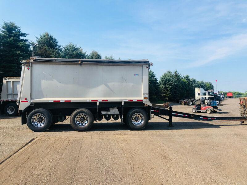 2011 RAGLAN ALUMINUM TRI-AXLE PONY PUP DUMP TRAILER, HIGH VOLUME