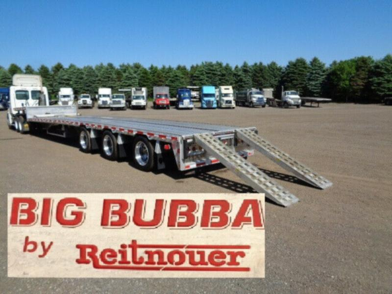 2018 REITNOUER BIG BUBBA 53'FT TRIDEM ALUMINUM STEP DECK TRAILER