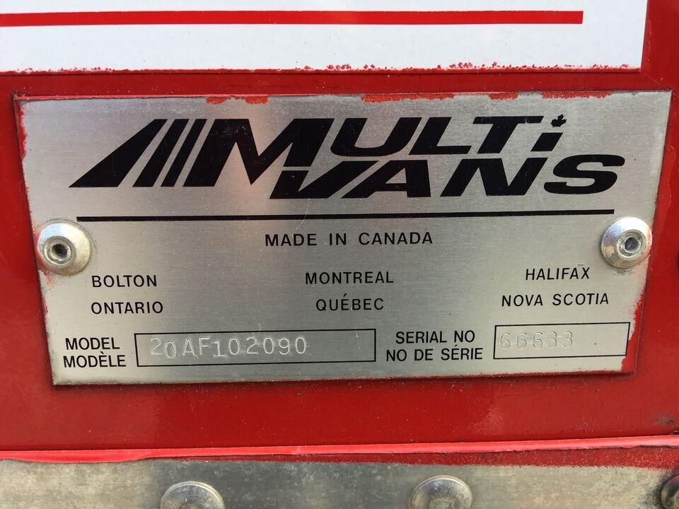 2012 Multivans 20FT DRY #UB1186 ( BOX AND TGATE ONLY FOR SALE) 2