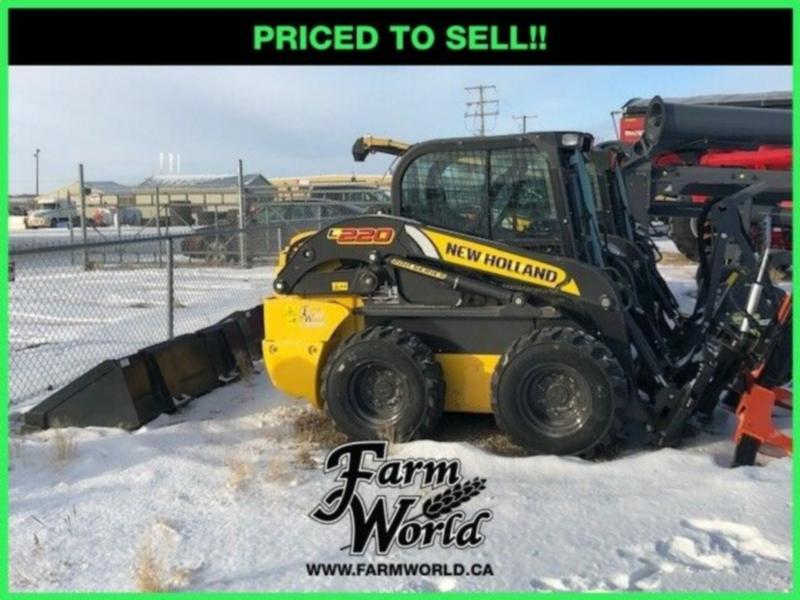 WHOLESALE CASH PRICING! - 2017 New Holland L220 Skid Steer