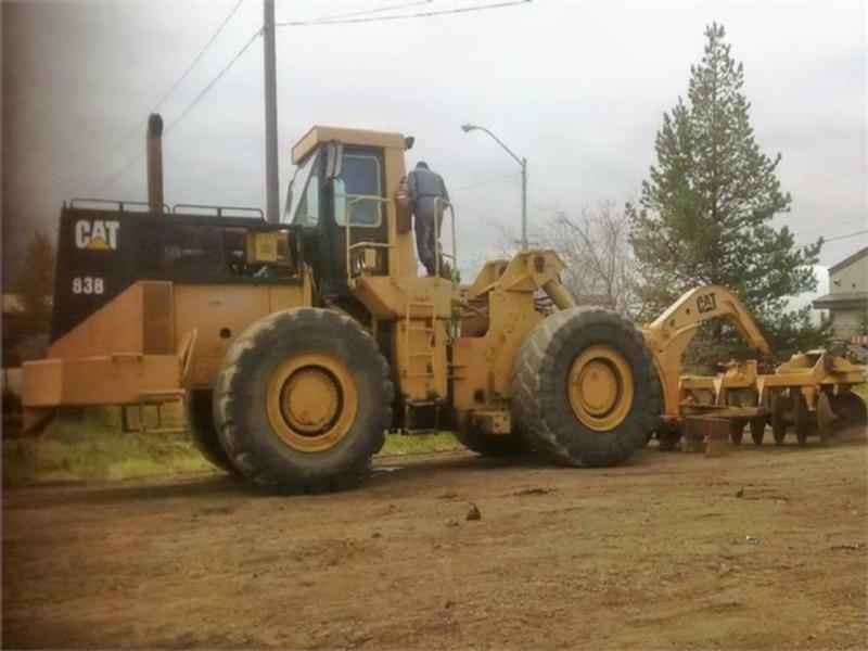 1983 CATERPILLAR 834B WHEEL DOZER WITH FRONT MOUNTED DISC