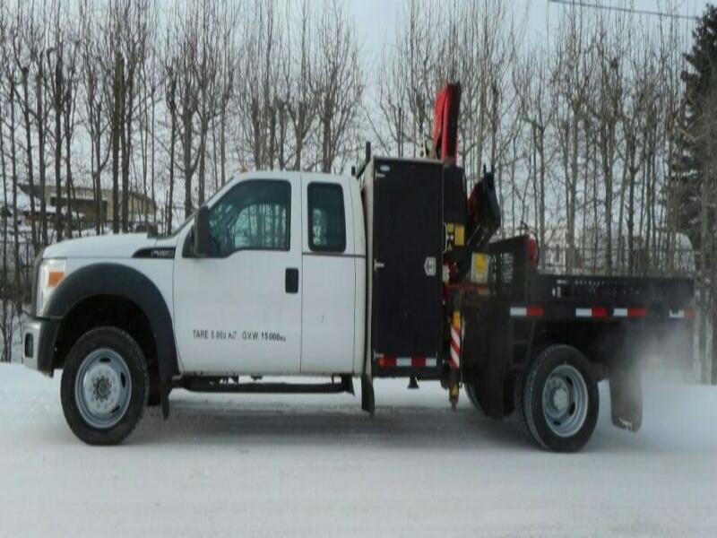 2012 Ford F550 XL Ext. Cab 4x4 with Fassi F65A.0.24 Boom Truck