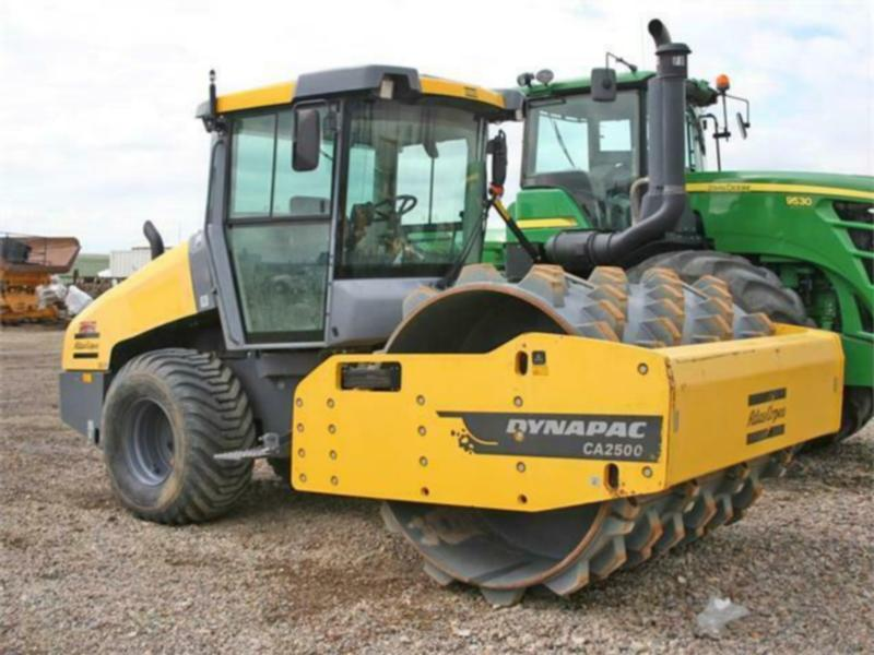"Dynapac CA2500D Compactor 84"" smooth drum with padfoot kit"