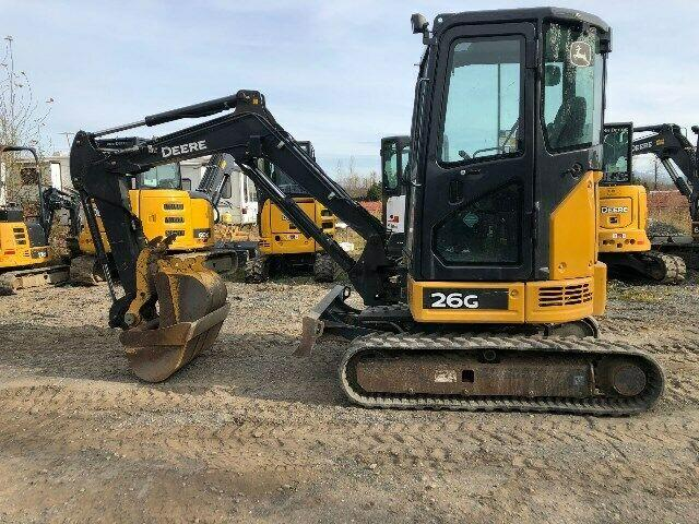 2016 John Deere 26G Mini Excavator, 440 Hours Only