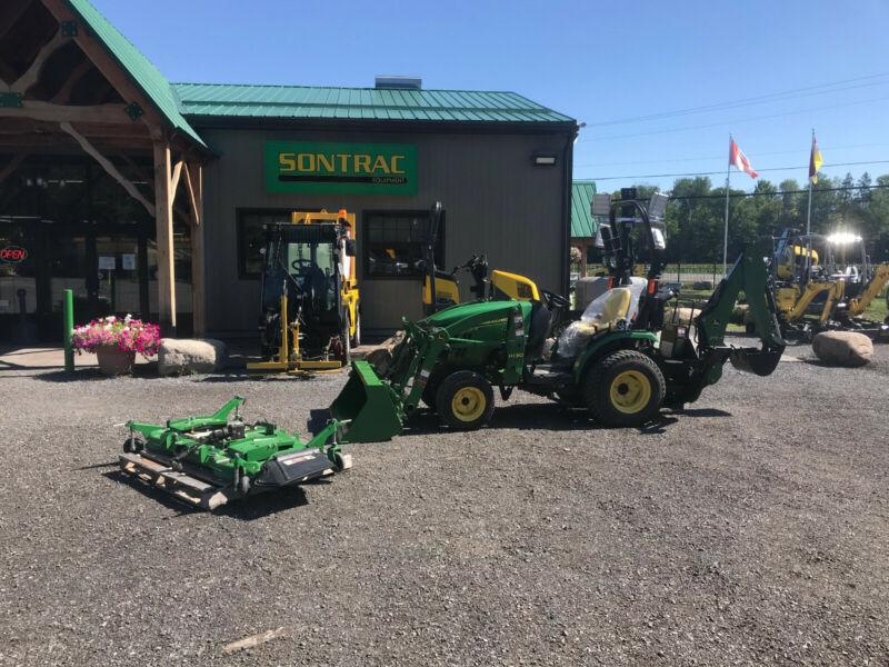 2013 JOHN DEERE 2025R – COMPACT TRACTOR TLB AND MOWER
