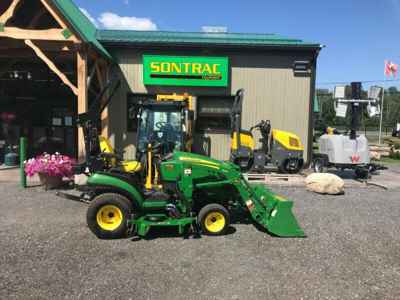 2017 JOHN DEERE 1025R – COMPACT TRACTOR WITH LOADER AND MOWER