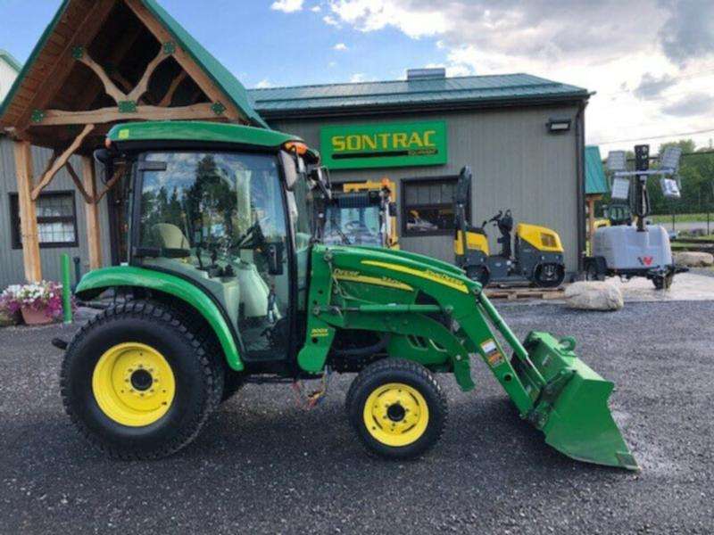 2008 JOHN DEERE 3320 – WITH CAB AND LOADER – MINT CONDITION – LO