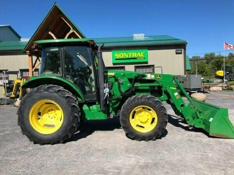 2015 JOHN DEERE 5085E TRACTOR WITH CAB, LOADER, 2 REAR SCV -MINT