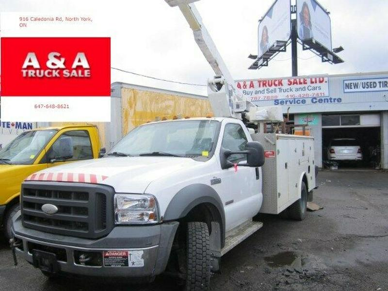 bucket truck ford f 550  50 ft working high