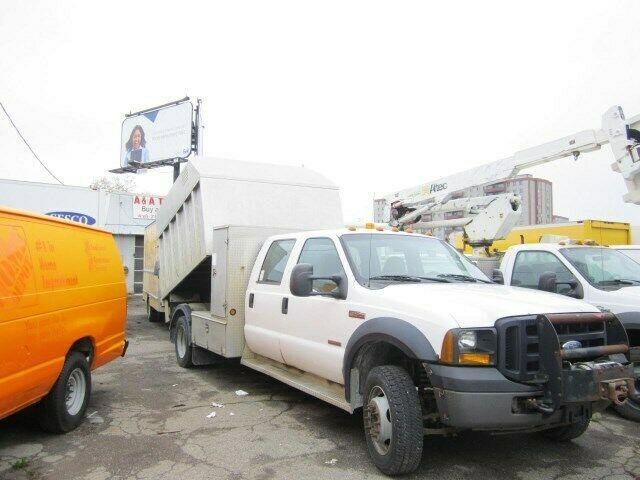 2007 ford f 450 dump chipper aluminum box