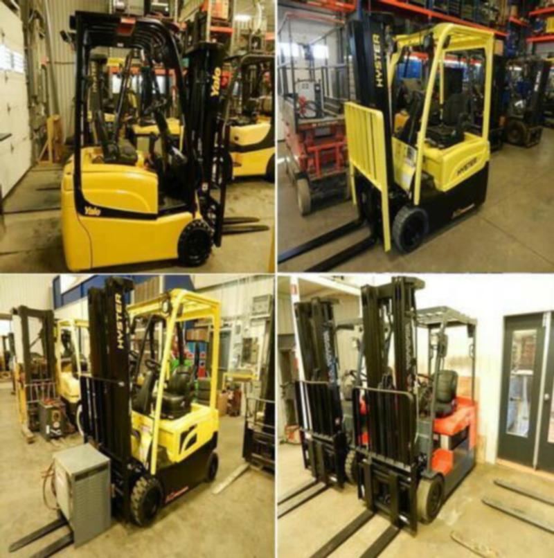 Plusieurs chariots 3 roues Toyota Hyster Yale 3 wheels forklifts