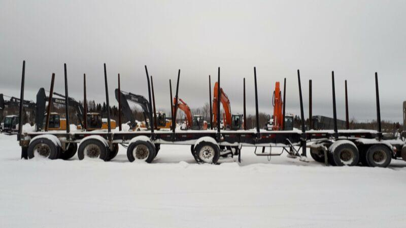 1997 Manac 4 Axle Log Trailer